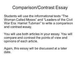 compare and contrast sample essay writing portfolio with mr butner writing portfolio due date 5 comparison contrast