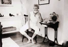 rare marilyn monroe the telephone sitting by sam shaw 1957