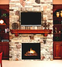 interior tv wall mounting ideas above fireplace wooden shelves and