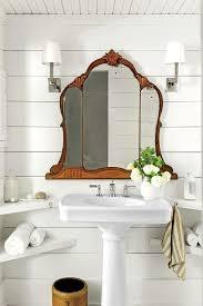 Corner Mirror Bathroom by Charming Tennessee Mountain Cottage Shiplap Bathroom Tri Fold