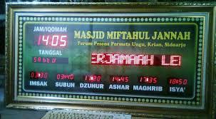 membuat jam digital led besar harga jam digital masjid plus running teks pusatjamdigital com