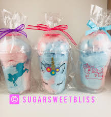 favor cups unicorn cotton candy party favors unicorns fluff favor cups