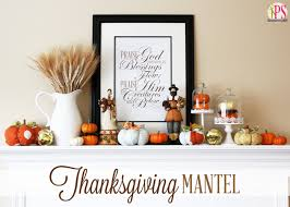 thanksgiving mantel decor