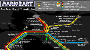 Bart Line Map by Mario Bart Map Is Hella Tight
