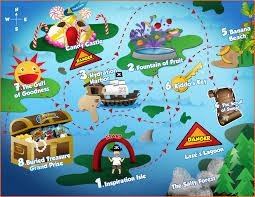 Maps For Kids Health And Fitness Games For Kids Adventure To Fitness