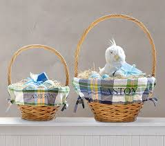 personalized easter basket liner plaid easter basket liners pottery barn kids