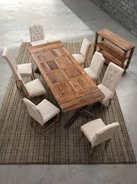 Rustic Wood And Metal Dining Chairs Dining Room Excellent Image Of Dining Room Decoration With