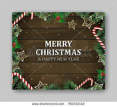 merry wooden sign board vector stock vector 515895571