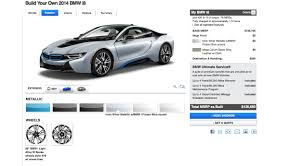 bmw build your car 2014 bmw i8 configurator live spec your own in hybrid coupe