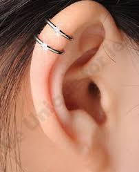s ear cuffs clip on earring 2 row cartilage ear cuff ear