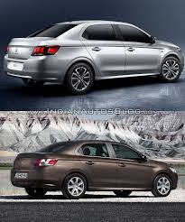 peugeot car 301 2017 peugeot 301 vs 2013 peugeot 301 rear three quarters indian