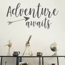 murals etsy wall decal adventure awaits wanderlust stickers home decals