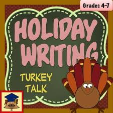 turkey talk thanksgiving writing descriptive simile writing tpt