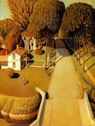 the birthplace of herbert hoover grant wood wikipaintings org
