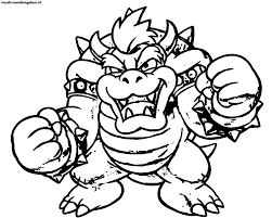 coloring pages luiug bowser gekimoe u2022 96361