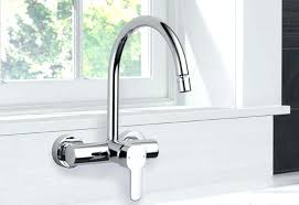 wall mounted kitchen faucet kitchen faucet one affordable cold water single wall mount