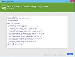 messages not downloading android android studio doesn t start fails saying components not