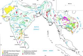 South East Asia Map Asia Online Vegetation And Plant Distribution Maps Library