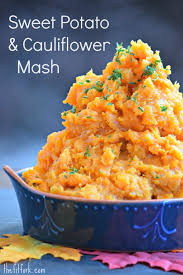 sweet potato cauliflower mash more healthy recipesthefitfork