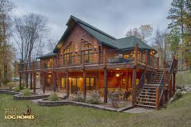 golden eagle log and timber homes log home cabin pictures exterior lakeside stairs