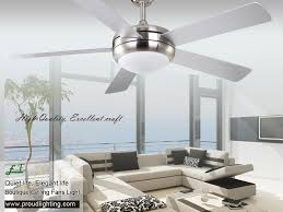 Living Room Ceiling Fans With Lights by East Fan 52inch Brushed Nickel Indoor Ceiling Fan With Light Item