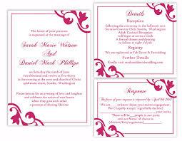 wedding invitation templates word diy wedding invitation template set editable word file instant