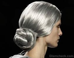 images of sallt and pepper hair maría barros fall winter 2012 chic salt and pepper hairstyle