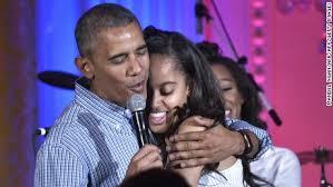 malia obama watch her father sing u0027happy birthday u0027 cnnpolitics