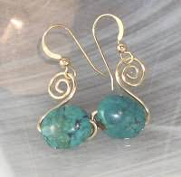 beginner earrings perfectly twisted handmade wire wrapped beaded and gemstone