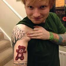 ed sheeran gingerbread man tattoo gingerbread man pop s illustrated man ed sheeran s many tattoos