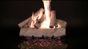 rasmussen white birch vented gas log set youtube