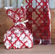 christmas goody bags christmas cookie bags tile print cellophane bags twist ties