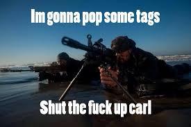 Carl Meme - carl military meme laststandonzombieisland