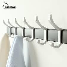 modern coat hooks auswind modern coat hooks space aluminum row hooks clothes hooks