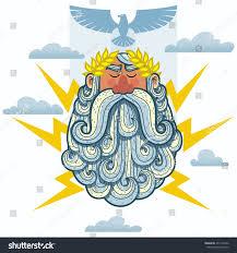 cartoon illustration greek god zeus stock vector 437134162