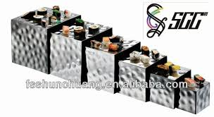 decorative stainless steel cubic combined display stand display