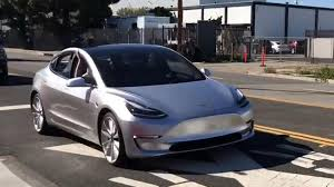 latest footage of highly anticipated tesla model 3 prototype released