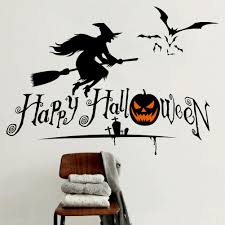 halloween party decorations kids home decals pumpkin bat witch