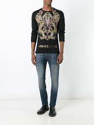 versace jeans stonewashed jeans men clothing versace boots black