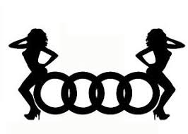 audi girls sticker autocollant tuning deco voiture moto