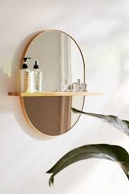 Round Bathroom Mirror With Shelf by Ivette Rounded Mirror Shelf Wood Projects Pinterest Round