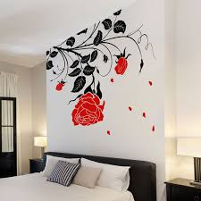 wall stickers funky vinyl decals stylish rose wall sticker