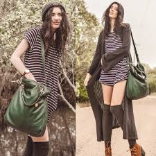 elle may leckenby tilkah grace tote in jade shift dress with