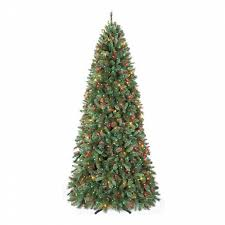 9 foot christmas tree 9 ft pre lit multi colored light aspen mountain slim pine