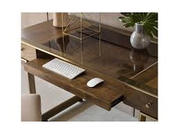 american drew ad modern organics risden desk with bronze glass top