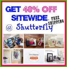 shutterfly 40 off sitewide free shipping on photo deals
