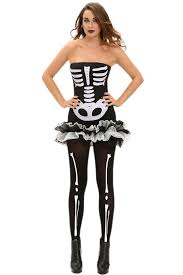 Womens Skeleton Halloween Costume Wholesale Fever Skeleton Halloween Costume
