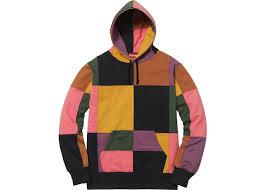 supreme patchwork hoodie black