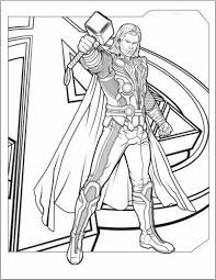 Thor Coloring Pages Getcoloringpages Com Thor Coloring Page