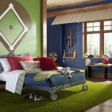 world series boys baseball themed room mohawk homescapes